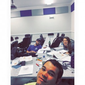 study group selfie break